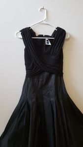 Tadashi black sleevless party dress